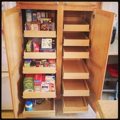 Pantry cabinet organization, yes please!
