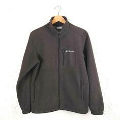 Columbia Mens Size M Brown Omni-Heat Fleece Jacket Full Zip Fleece Sweater, Mens Fleece, Fleece Vest, Columbia Sportswear, Brown Sweater, Outdoor Gear, Outdoors, Pullover, Shoulder