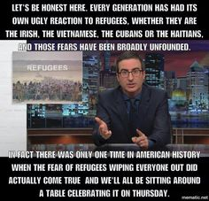 The largely irrational fear of refugees & the hypocrisy of Thanksgiving   #SafeHomeForAll #RefugeesAreHumansToo