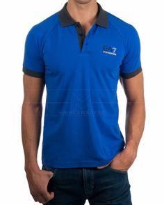 Polo Armani EA7 - Azul electrico & Gris
