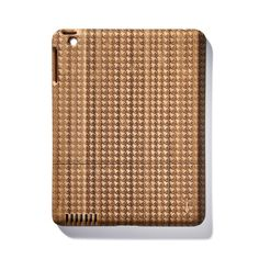 A houndstooth bamboo iPad case! I'm in love.