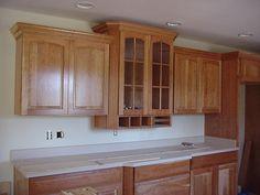 109 best crown molding over cabinets images kitchens crown rh pinterest com