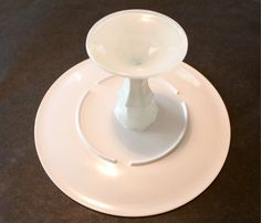 2 tiered cake stands using my white plates (2 sizes)
