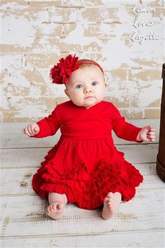 Lemon Loves Lime Layette Jada Dress in True Red Fall 2015 Holiday Cute Baby Girl Outfits, Cute Outfits For Kids, Cute Baby Clothes, Toddler Outfits, Rose Headband, Headband Baby, Headbands, Little Girl Closet, Baby Boutique Clothing