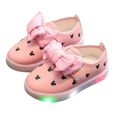 625bd29583c5a Girls Bowknot Decor Hook Loop LED Sole Lovely Casual Shoes is cheap, come  to NewChic and buy the best kids shoes now!
