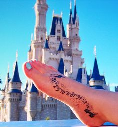 Coordinates to Cinderella's Castle tattoo