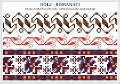 traditional Romanian blouse from MOLDOVA, Bacau county Stitch Patterns, Knitting Patterns, Palestinian Embroidery, Hama Beads, Beading Patterns, Blackwork, Pixel Art, Projects To Try, Cross Stitch