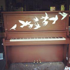 senior project so far  #piano #painted #birds