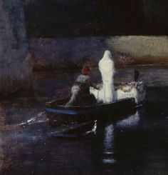 "suonko: "" Arnold Böcklin - The Isle of the Dead [detail] """