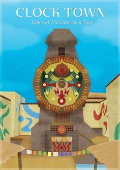Majora's Mask - Clock Town Stretched Canvas