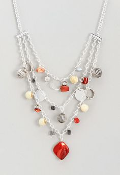 Felicia Red-Blue Swag Necklace, 9-0036050624, Felicia Red-Blue Swag Necklace Main View PDP
