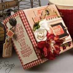 Libro de Recetas para mis Postres ❤️#Country ❤️A Recipe Book for favorite desserts #Graphic45 #Graphic45DT2015 #HomeSweetHome #craft #scrapbooking  #inlove