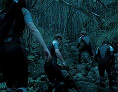 did anyone even see that Sam trips and falls in this scene? Oh Sam...haha XD