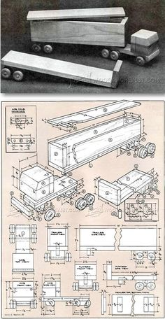 Wooden Toy Truck Plans - Wooden Toy Plans and Projects - Woodwork, Woodworking, Woodworking Plans, Woodworking Projects