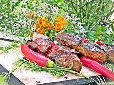 Gosia gotuje: Karczek z grilla  w sosie  chiimichurri
