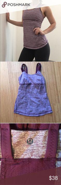 Lululemon Strappy Tank Heathered Purple Like new lululemon athletica Tops Tank Tops
