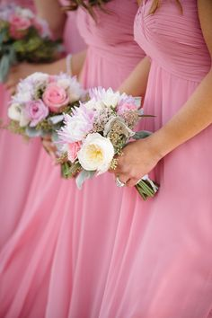 Dynamite and Pearls Wedding Perfect Wedding, Dream Wedding, Wedding Day, Wedding Parties, Garden Wedding, Rose Fuchsia, Pink Roses, Rose Gold, Light Pink Bridesmaid Dresses