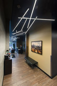 Add your own personal touch of décor with modern LED suspension systems | Great for commercial spaces, offices and hallways | modern lighting idea | Cirrus Channel D1 - by Edge Lighting