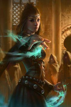 Wizard sorcerer female witch magic spells fantasy D&D High Fantasy, Fantasy Women, Fantasy Rpg, Medieval Fantasy, Fantasy Girl, Fantasy Artwork, Fantasy Story, Fantasy Inspiration, Character Inspiration