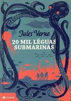 20 Mil Léguas Submarinas Jules Verne, Good Books, Books To Read, My Books, Book Cover Design, Book Design, Atelier Creation, Nemo, Octopus Art