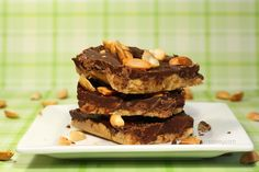 Chocolate Peanut Butter Squares - no oven required!  | www.chocolatemoosey.com