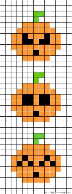 Pumpkins - Halloween perler bead pattern