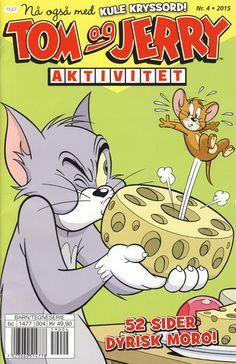GCD :: Cover :: Tom og Jerry Aktivitetshefte; Tom og Jerry Aktivitet #4/2015 Tom Og Jerry, Comics Story, Looney Tunes, Scooby Doo, Funny Animals, Toms, Barn, Cover, Graphic Novels