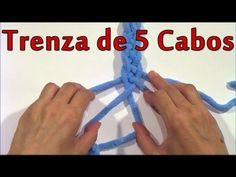 Otra forma de hacer bisutería en TRAPILLO TRENZA  5 CABOS - YouTube