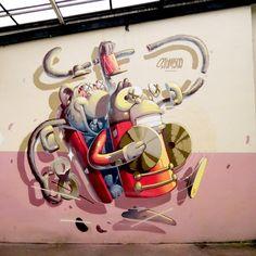 in Strasbourg, France, 2018 Graffiti Styles, Graffiti Art, Graffiti Characters, Creative People, Art Forms, Wall Murals, Cool Art, Strasbourg, Sculptures
