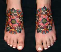 Photos old school tattoo flower page 2