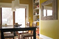 mustard yellow dining room