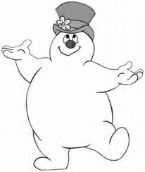 Cute Frosty the Snowman coloring page  activities for kids