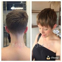 tapered nape pixie cut #hairdare