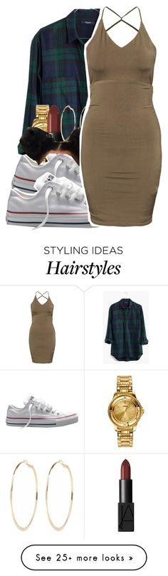 """1/28/16"" by xtaymaxlovesxmisfitx on Polyvore featuring Madewell, Versus, NARS Cosmetics, Converse, River Island, women's clothing, women, female, woman and misses"