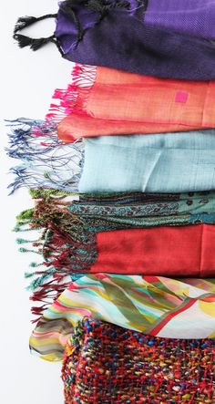 Bundle up! It's cold out there! Fair Trade Scarves from all over the world.