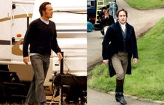 "Matthew Macfadyen: ""The studio gave me a personal trainer. Which is sort of fair enough because you don't want a flabby Darcy. But it was quite a shock. As soon as I wasn't in a scene, I'd be taken running round the park. And I was put on a low-fat diet. Every morning, this black cool-box would arrive with everything I was allowed to eat for the day. It was reassuring to find that I could get in shape quickly if I needed to, but it made you think about what women go through in this…"