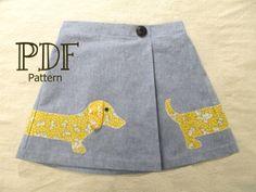 Lexi Girl's Applique Skirt