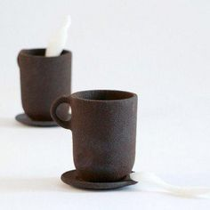 coffee mugs 3d printed - with coffee! | emerging objects