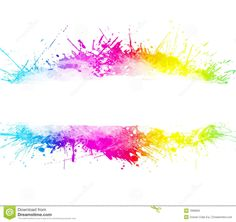 iphone call forwarding rainbow colour splash drip transparent background 11672
