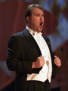 Bryn Terfel performing at The Nobel Peace Prize Concert 2000 in Oslo Spektrum in Oslo, Norway at on Monday 11 December. Bass, Welsh, Nobel Peace Prize, Opera Singers, Concert Hall, Conductors, Bad News, Classical Music, Opera House