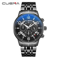 Luxury Brand Men Military Sport Watches Men's Quartz Analog Clock Full Steel Chronograph Waterproof Wrist Watch reloj hombre