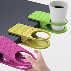 Clip it to the table cup holder.