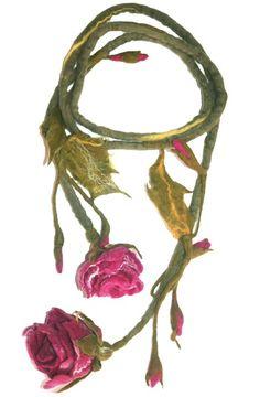 """ Rosen "" Filzschmuck Filzkette von Style for you auf DaWanda.com"