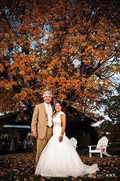 Fall farmhouse wedding at Merrell Farm