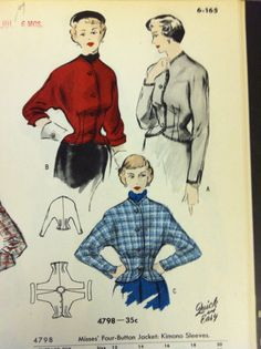 A page from a 1949 Butterick catalog. #butterick #vintagepatterns