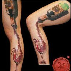 54 Mejores Imágenes De Tatuajes Del Vino Wine Tattoos Wine