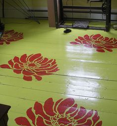 Stenciled floor. Beautiful wall stencils by Cutting Edge Stencils. by cuttingedgestencils, via Flickr