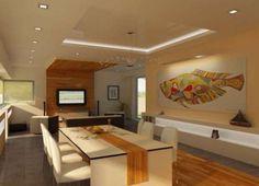 Son Tasarım salon İçin lüks asma tavan modelleri foto galerisi