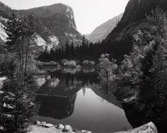 "Photo by Ansel Adams: ""Mirror Lake, Mount Watkins"". Yosemite National Park, California, USA (1937)"