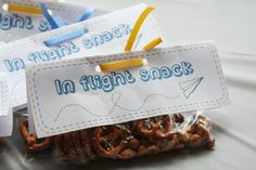 In Flight snack Paper Airplane Party, Planes Party, 4th Birthday Parties, 1st Boy Birthday, Planes Birthday, Birthday Cakes, Birthday Ideas, Airplane Baby Shower, Kids Party Themes